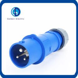 Resistente al agua industrial eléctrico conector macho y hembra de 16 a 32 A 63 2P 3p+N IP67