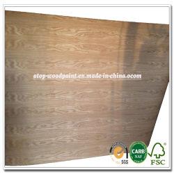 4x8 pies apoyados en papel natural de chapa de madera de roble blanco Roble Rojo ceniza de chapa de madera de abedul de arce