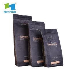 ハイエンドカスタムラミネート加工素材ペット / アルミ / PE 1lb 1kg スタンディングパッケージング ブロックボトムコーヒーバルブバッグ