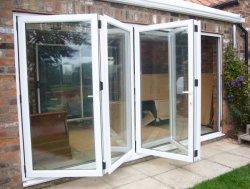 Алюминиевые складные двери для внутренней и внешней безопасности здание из стекла