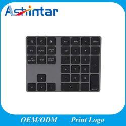 34 teclas teclado inalámbrico de plástico con cargo Bluetooth 3.0 El valor numérico El teclado numérico.