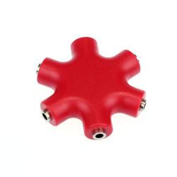 Tomada de divisor de áudio estéreo de 3,5 mm para fone de ouvido auricular do adaptador de 5 direcções