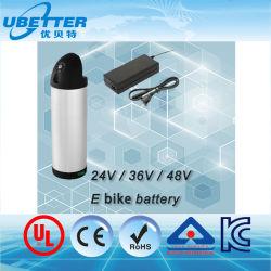 36V 18Ah type bouteille Ebike Case Batterie Batterie au lithium rechargeable