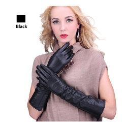 Mesdames de gants de cuir du WS2030 doublure chaude en hiver la mode de longs gants en cuir de mouton pour les femmes