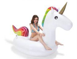최신 판매 팽창식 수영장은 장난감 팽창식 Unicorn 섬을 뜬다