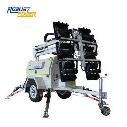 6X480W移動式ディーゼル機関トレーラーによって取付けられるLEDタワーライト
