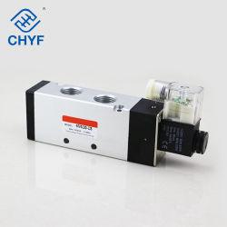 4V 시리즈 4V410-15 단일 코일 대형 1/2 인치 전기 5/2 방향 공기 솔레노이드 밸브 실린더 밸브