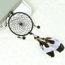 Piuma nera Handmade tradizionale Dreamcatcher indiano americano del mestiere della decorazione della parete di DIY