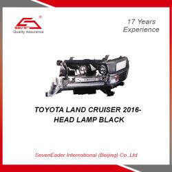 Luz do Farol automático do carro preto para a Toyota Land Cruiser 2016-