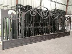 Cancello di oscillazione automatico del ferro saldato del cancello di disegno della strada privata resistente della villa