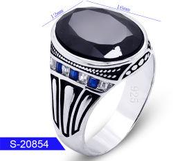 In het groot Nieuwe Model Turkse & Arabische Stijl 925 de Echte Zilveren Ring van de Steen van CZ van de Juwelen van de Manier Islamitische voor Mensen