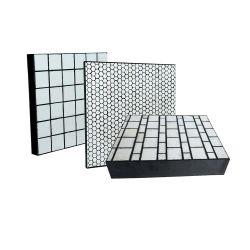92%, 95%, Hexagonal de cerâmica de alumina Square, azulejos do cilindro na camisa de desgaste de Borracha