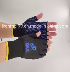 Gants tricot Half-Finger Mouchetures en PVC
