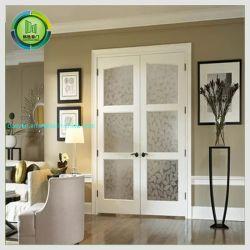 Стеклянные двери кухня ванная комната WPC дверь с водонепроницаемым рамы красивого белого освещения двери