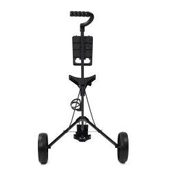 골프 푸시 카트 스위블 접이식 2륜 풀 카트 골프 우산 스탠드 골프 카트가 있는 트롤리