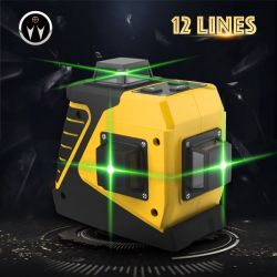 3D 12 라인 360 도 녹색 땅 콩 지면 다중 Laser 수준