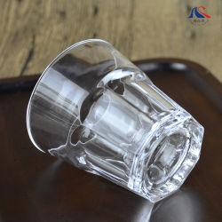 Glas-Whisky-Cupoctagon-untere runde Oberseite des Schuss-2oz