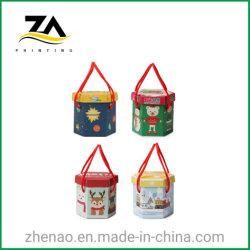 Impressão personalizada de cor de Natal dom de embalagens com a alavanca da caixa de Papel