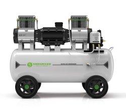 2021 새로운 고효율 11kW 8bar 이동식 피스톤 저소음 300L 탱크가 있는 산업용 의료용 오일프리 공기 압축기