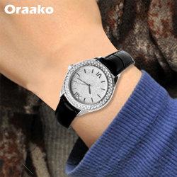 Venta caliente Retro regalo pantalla diamantes Relojes de pie de aleación resistente al agua reloj anillo