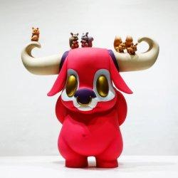 Договорная мультфильм быка рисунок статуи кукла полимера декоративные элементы