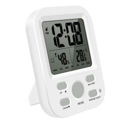 LCD LCD van de Desktop van de Zaal van de Wekker van de Vertoning Goedkope Kleine Binnen Digitale Klok met Temperatuur en Vochtigheid