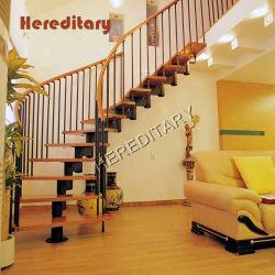 SUS comerciales de estilo simple escalera de barandilla de acero inoxidable para interior/exterior
