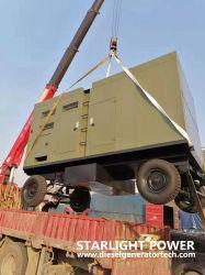 En espera de 115kw de potencia diesel Volvo remolque Grupo Electrógeno móvil