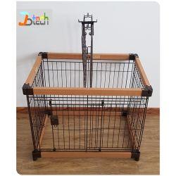 Artículos para mascotas perro Portátil Cubierta de madera de la jaula la jaula de perro de plástico para la venta