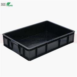 Bandeja de almacenamiento conductivo antiestático Negro Caja de plástico para circuitos impresos