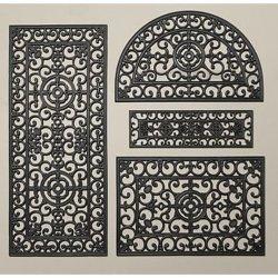 Schmiedeeiserne Art Gummi-Bodenmatten für Eingangstür Matten Für Treppen