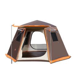 Bluebay 5-8 Pessoa Camadas Duplo Hexágono Casa impermeável a dobragem Camp tenda para piscina Beach Travel