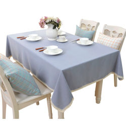 둥근 테이블 천 테이블 천 도매 코튼 식탁보 일회용 식탁보 테이블 직물 면 식탁보 폴리에스테르 웨딩 테이블 천