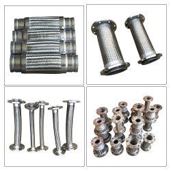 Tubo flessibile di espansione intrecciato con filo in acciaio inox corrugato in metallo