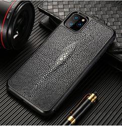PC009 Luxury iPhone 11 وiPhone 11PRO Max Cover Stingray Fish جلد كامل الهيكل الحماية الهيكل حقيبة الهاتف المحمول الجلدية الأصلية