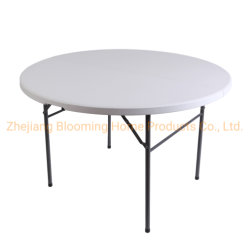 5 футов на открытом воздухе круглый пластмассовый складываются в половине таблицы для пикника/совещания/Исследования/Dinging/партии