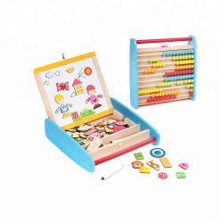 Juguetes de madera magnético laberinto de madera, juguete educativo magnéticos magnéticos, los modelos de bloques de construcción