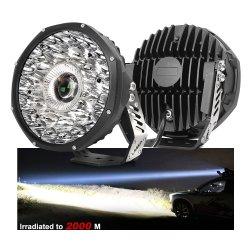 DOT e-MARK IP68 fascio di luce spot laser più luminoso da 2000 m 8.5 / 9 pollici paraurti anteriore luci di lavoro a LED per veicoli, luce di guida laser spot off Road da 9 pollici Offroad 4X4