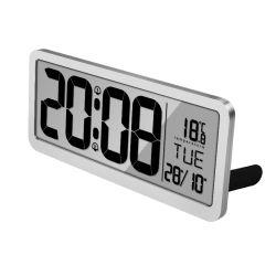 Orologio di parete muto creativo di nuovo del grande schermo LED Digital di miglioramento domestico di parete modo elettrico d'argento dell'orologio