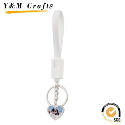2019 Hot Sale Sublimation Key Chain mit USB-Ladekabel