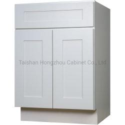 Populärer Art MDF-weißer Schüttel-Apparathölzerner Küche-Schrank-Möbel-Chinese-Hersteller