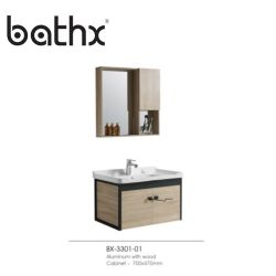 Материал из алюминия и дерева, монтаж на стене кабинета бассейна с домашней наружного зеркала заднего вида товаров угол туалетный столик в ванной комнате отеля мебель