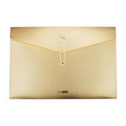 De Oro de Plástico PP archivo documento de bolsillo Pocket para papel A4 de lujo de oro