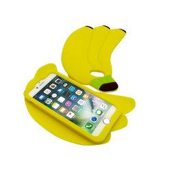 أحدث تصميم ناعم علبة هاتف على شكل سيليكون بانانا
