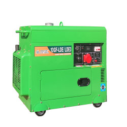 9 kw/11 kVA Electric Start Single of Three Phase Silent Type Portable Mobiele dieselgenerator