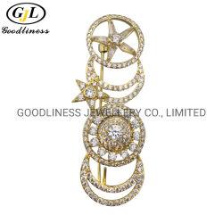 党のための贅沢925の純銀製の卸売の宝石類のブローチ