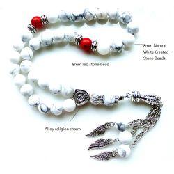 Customized Pendão Tasbih Resina Design Turco Oração Preto e Branco 33 Cordões dom para o Ramadã Bracelete Bracelete Tesbih Islão Rosário Misbaha muçulmano do homem