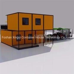 China el lujo prefabricados móviles portátiles pequeños Estructura de acero de la casa del campamento