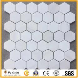 Quadro de piso em mosaico, Round /padrão quadrado mosaico de pedra mármore