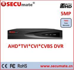 8 チャンネル 5MP Ahd TVI CVI CCTV DVR デジタルビデオ レコーダ